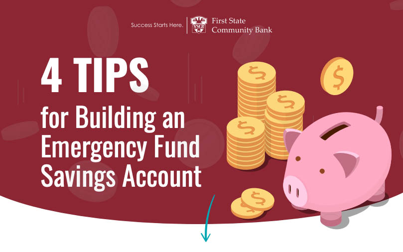 [Infographic] 4 Tips for Building an Emergency Fund