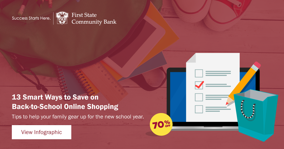 Infographic: 13 Smart Ways to Save on Back-to-School Online Shopping